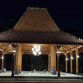 Pendopo Joglo Kayu Jati Tumpangsari Ukir, Rumah Joglo Dinding Ukiran