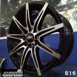 Velg mobil Mazda2 ring 16 tipe KCCX HSR black polish