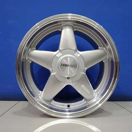 Cicil Velg Mobil Lancer Evalia DP 10% Ring 16 HSR VEST Silver