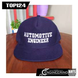 Topi Bordir Motif Automotif Engineering Biru Dop murah - [TOPI24]