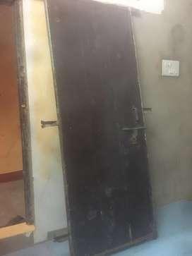 Old door with door frame
