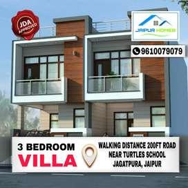 100 SQYDS Villa 200ft Main Rd Walking Distance Before 7No. Jagatpura