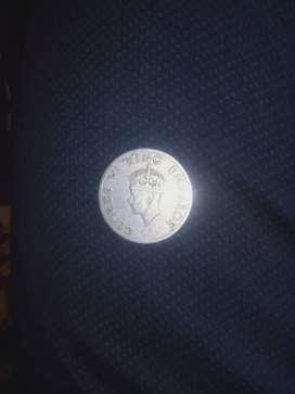 सिक्का पुराना अंग्रेजों के जमाने का 1946