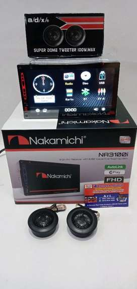 head unit double din nakamichi & tweeter soundstream