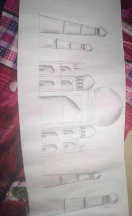 Tajmahal sketch