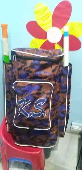 Cricket kit 2 English willow bats , 1 set of pads , thigh guard kit