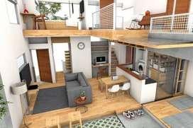 Jasa pengerjaan desain interior apartemen rumah ruko