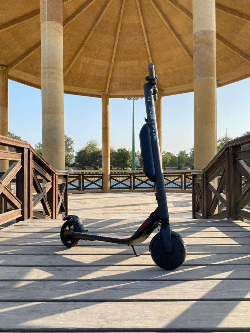 Segway Ninebot ES2 with extended battery