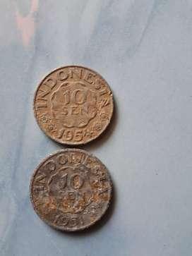 Uang logam koin kuno 10 sen