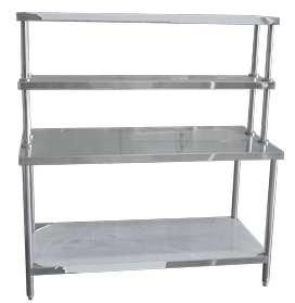Meja Dapur Extra Shelves Bahan Stainless Steel Anti Karat