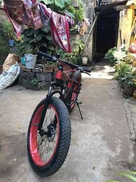 21gears flat tyre bike