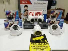 CCTV SPC/AHD/DAHUA MURAH PAKET LENGKAP LENSA 2MP,DVR 4CH,HD 500GB.