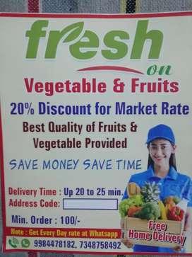 Hello sir ham fresh on vegetables and fruit ghar tak pahuchate hai