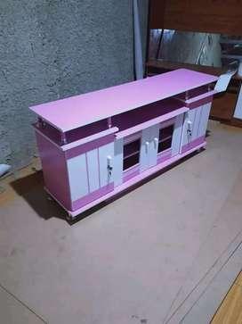 Mt82. Meja tv pink pelengkap rumah anda murah