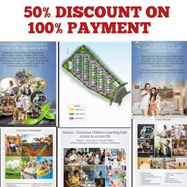 @MIYAPUR #50% DISCOUNT on 100% payment @ APARTMENT flats