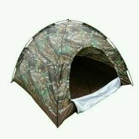 Tenda kemah dome army tempat tidur diluar ruangan anti air  4orng-BARU