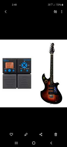 Electric guitar with processor