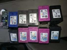 Diterima dgn harga tinggi bekas tinta printer hp dan canon