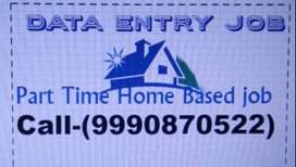 Simple DATA ENTRY work Part time HOME BASE job EARN 4500 to 8000/-