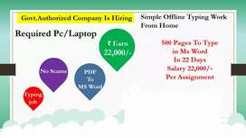 Part time job Data Entery Work
