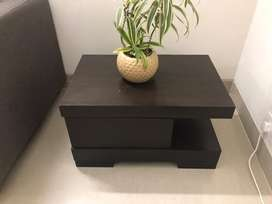 Wooden Side table with storage in great condition for sale