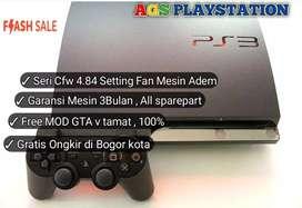 PS3 slim 320gb siap main 24jam