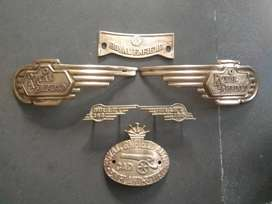 Complete Brass Decals for Royal Enfield Bullet