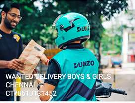 DUNZO WANTED DELIVERY EXECUTIVES ALL-OVER CHENNAI