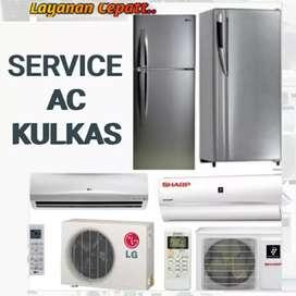 SERVICE AC KULKAS/SERVIS AC KULKAS,ISI FREON KULKAS AC,BONGKAR PASANG