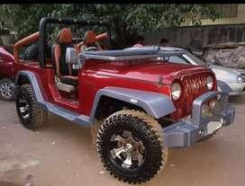 New red stylish jeep