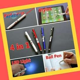 Ballpoint Drawing Pena = Pena + stick Stylus + Laser Pointer + Senter