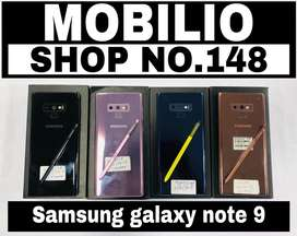 Samsung Note 9 (6/128) and (8/512) all colour available, for sale.