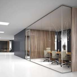 Office Renovation & Partition, Glass partition
