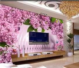 Pvc wall panel 3d wallpaper n interior