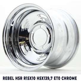 jual velg mobil feroza model REBEL HSR R15X10 H5X139,7 ET0