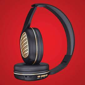 NEW--iBall Decibel BT01 Smart Headset with Alexa Enabled (Black &Gold)