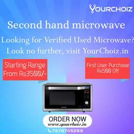 """I""""D 7893 first purchase get 500/- discount on used Microwave"""