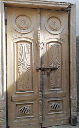 Antique Hand Made Wooden Door