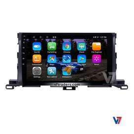 "V7 Toyota Highlander 11"" Android LCD Touch Panel GPS navigation DVD"
