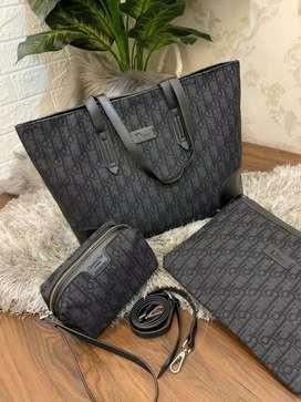 Dior tote 3in1 pouch tas