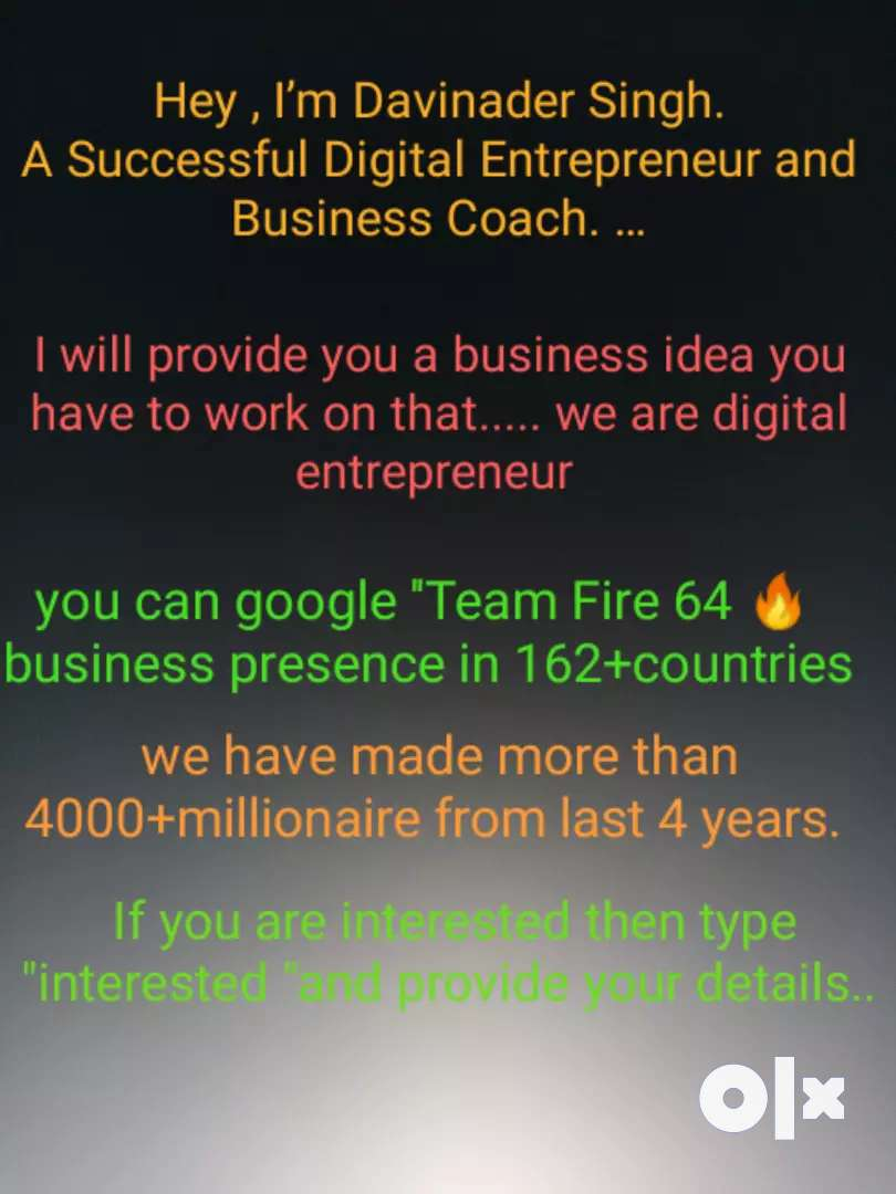 NOTE- IT'S A BUSINESS OPPORTUNITY 0