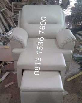 kursi refleksi putih dakron, refleksi kursi pijat