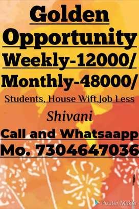 Par week 12000 part time job