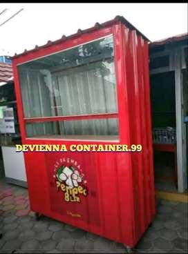 Jual Box Container booth pempek usaha custom foodcourt