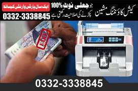 cash counting machine 100% fake note detection 1 year warranty
