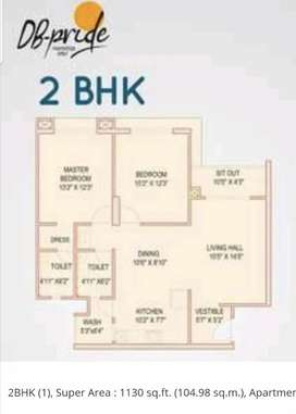 2bhk flat available for Sale in DB Pride Covered Campus plz call