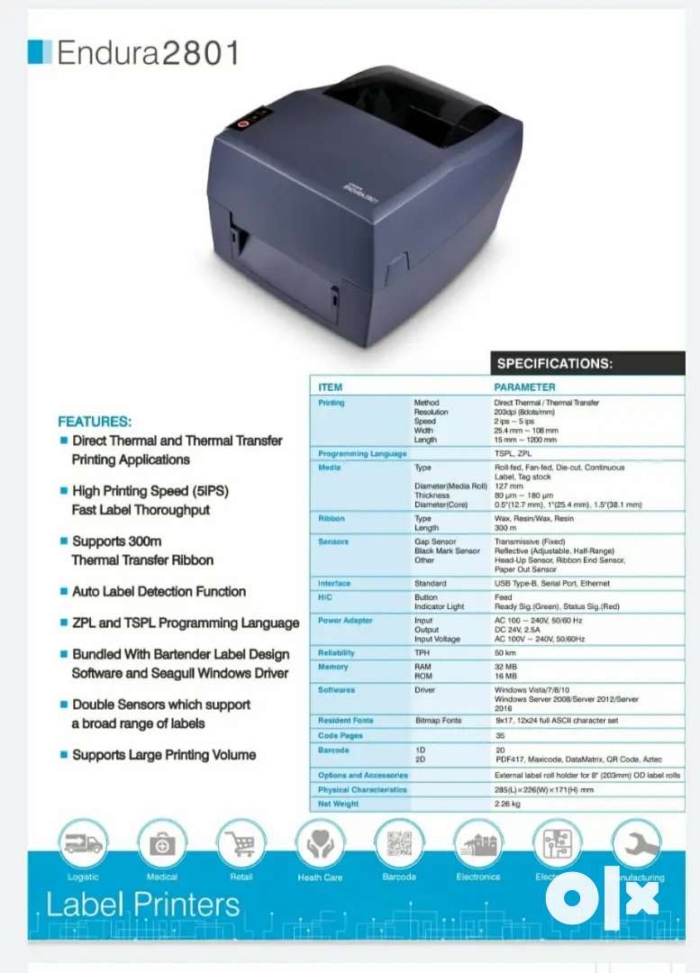 All Barcode solution - Barcode Printer , Scanner, Labels & Ribbons 0