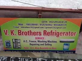 Ac freez washing machine technician