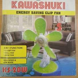 Kipas Angin Jepit / Meja / Dinding Kawashuki Clip Fan 5 Baling