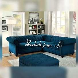 sofa clasterfild blue